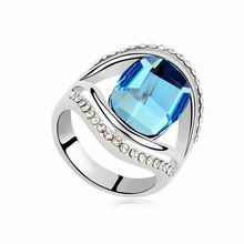 奥地利水晶戒指--维纳斯之恋(海蓝)