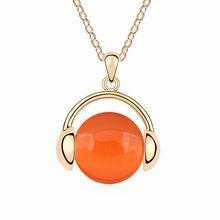 镀真金音乐之声猫眼石项链(橘色)