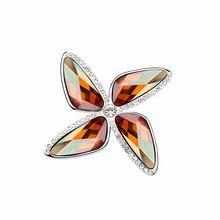 奥地利水晶胸针--爱情风车(烟黄)