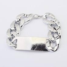 欧美夸张粗链条金属手链(古银)