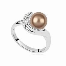 奥地利珍珠戒指--守着梦(古铜)