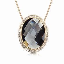 镀真金公主魔镜精品毛衣链(黑钻石)