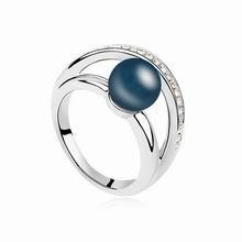 奥地利珍珠戒指--暖暖(深蓝)