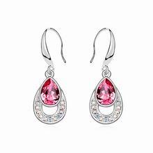 奥地利水晶耳环--美丽传说(玫红)