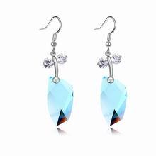 奥地利水晶耳环--爱情日记(海蓝)