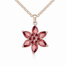 AAA级锆石项链--香榭丽影(石榴红+玫瑰金)