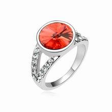 奥地利水晶戒指--梦醒时分(水莲红)