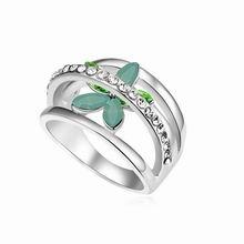 奥地利水晶戒指--浪漫花季(绿蛋白)