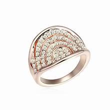 奥地利水晶戒指--尊宠(彩白+玫瑰金)