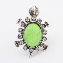 欧美个性乌龟复古金属戒指(绿色)