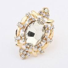 欧美新款时尚宝石气质戒指(白色)