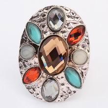 欧美波西米亚街拍时尚戒指(咖啡)