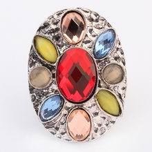 欧美波西米亚街拍时尚戒指(红色)