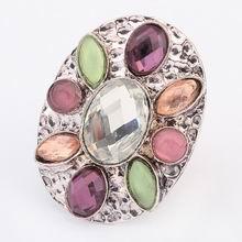 欧美波西米亚街拍时尚戒指(白色)