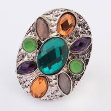 欧美波西米亚街拍时尚戒指(绿色)