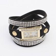欧美热卖闪钻简约手表链(黑色)