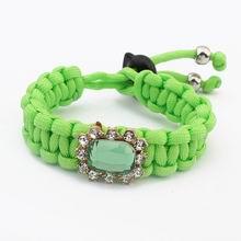欧美百搭编织简洁手链(绿色)