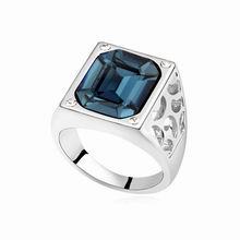 奥地利水晶戒指--败犬女王(墨蓝)