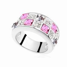 奥地利水晶戒指--都市恋人(玫红)