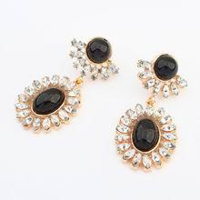 欧美时尚璀璨气质耳环(黑色)