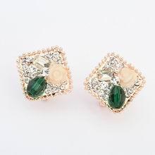 韩版光彩耀眼时尚潮流耳环(绿色)