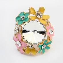 欧美夸张魅力小花朵戒指(彩色)