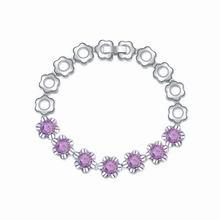 AAA级手工镶嵌锆石手链--花团锦簇(紫色)