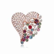奥地利水晶胸针--赤子之心(彩色+玫瑰金)