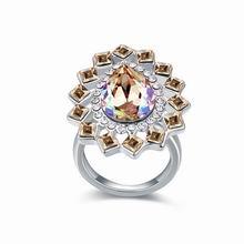 奥地利水晶戒指--爱情漩涡(夜光绿)