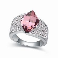 奥地利水晶戒指--流域(水晶古典粉红)