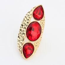 欧美夸张朋克个性霸气戒指(红色)