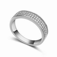 AAA级微镶锆石戒指--流金岁月(白色)