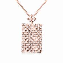 奥地利水晶毛衣链--锦绣年华(白色+玫瑰金)