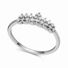 AAA级微镶锆石戒指--皇冠之恋(白色)