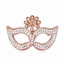 奥地利水晶胸针--面具下的诱惑(白色+玫瑰金)