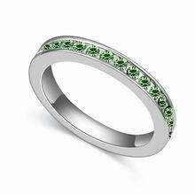 奥地利水晶戒指--无可取代(橄榄)