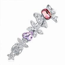 奥地利水晶发夹--花之城(水晶古典粉红+紫罗兰)