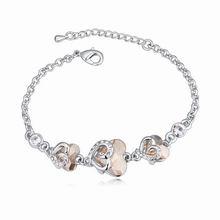 奥地利水晶手链--心蕊(金色魅影)