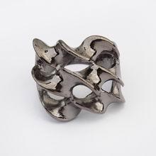欧美朋克风格个性扭曲戒指(黑色)