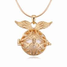 铜镀真金珍珠项链--梦幻天使(香槟金)