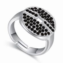 奥地利水晶戒指--芊芊扣(黑色)