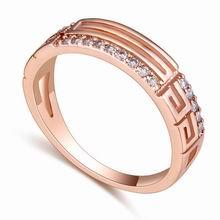 AAA级微镶锆石戒指--萦绕(玫瑰金)