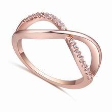 AAA级微镶锆石戒指--丝彩飞扬(玫瑰金)