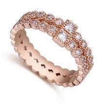 AAA级微镶锆石戒指--锁清秋(玫瑰金)