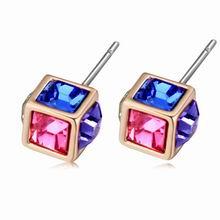 奥地利水晶耳环--五色糖果(彩色)