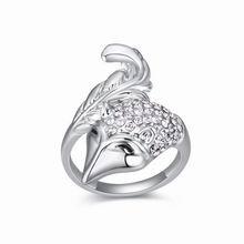 奥地利水晶戒指--顽皮狐狸(白色)
