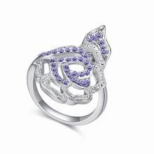奥地利水晶戒指--紫苑(藕荷紫)