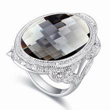 奥地利水晶戒指--踏歌(黑钻石)
