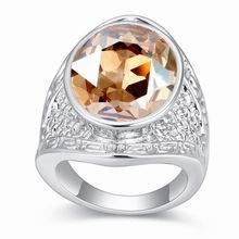 奥地利水晶戒指--绿盖舞风轻(金色魅影)