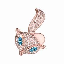 奥地利水晶胸针--俏皮小狐狸(海蓝)